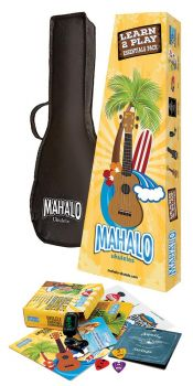 Mahalo Kahiko Kit Ukulele Brown con accessori